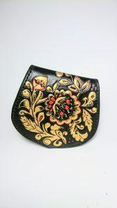 Monedero de cuero artesanal - Antonina Kadyrova
