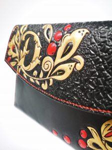 Detalle bolso de cuero - Antonina Kadyrova