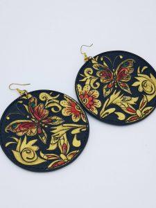 Pendientes de piel mariposas - Antonina Kadyrova
